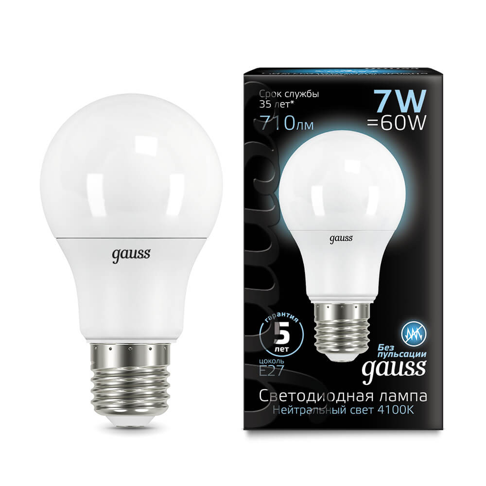 Лампочка Gauss 102502207 LED A60 лампочка gauss 23227a elementary a60 led