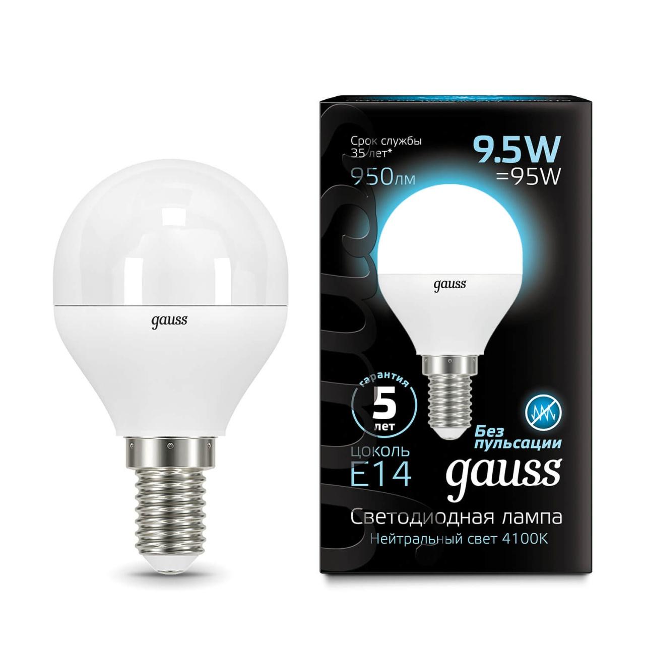 Лампочка Gauss 105101210 LED Globe лампочка gauss led globe e14 9 5w 4100k 105101210