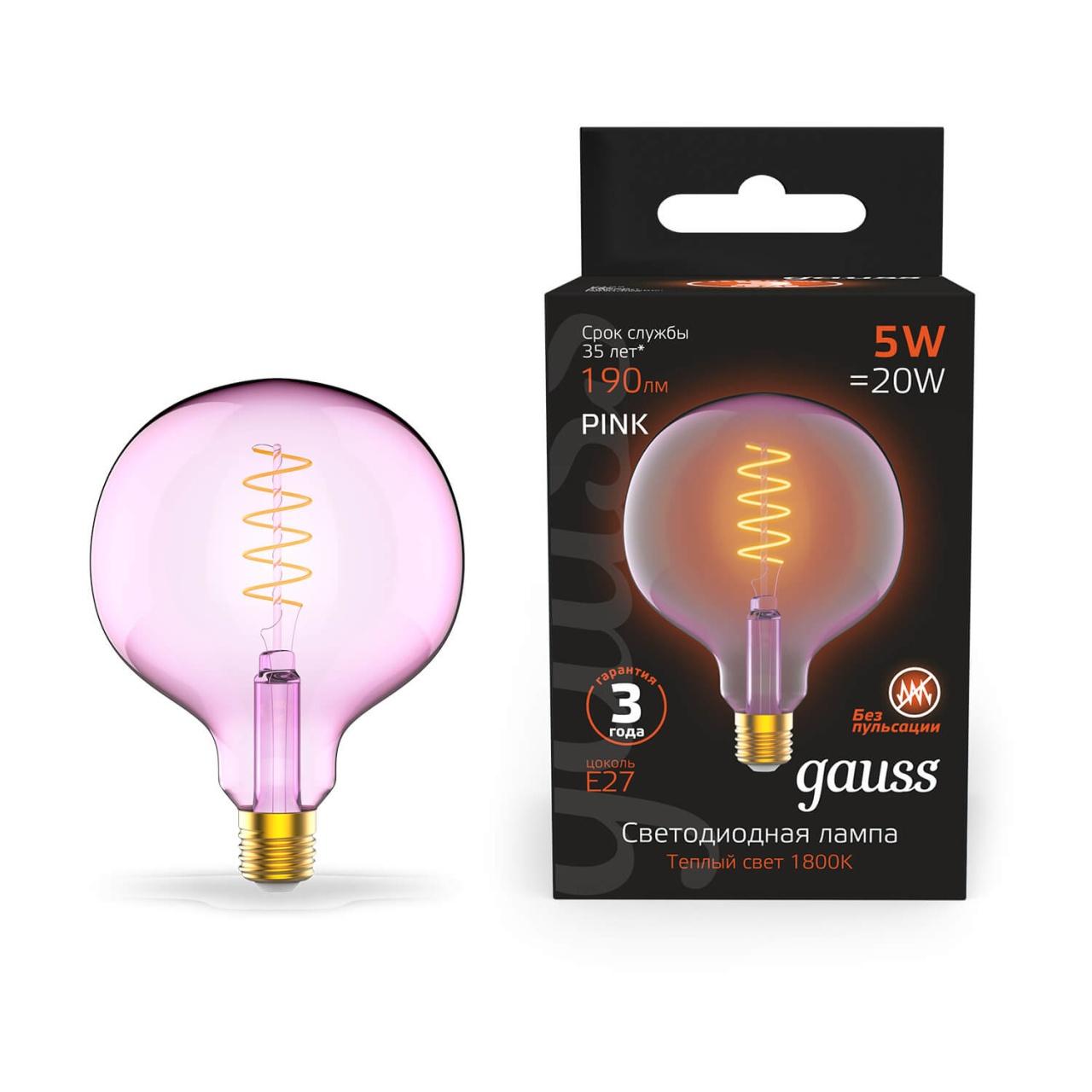 Лампочка Gauss 1011802105 Colored (Диммирование) лампочка gauss 1009802105 colored