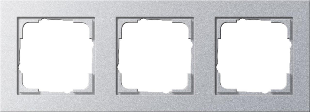 Рамка 3-постовая Gira E2 алюминий 021325