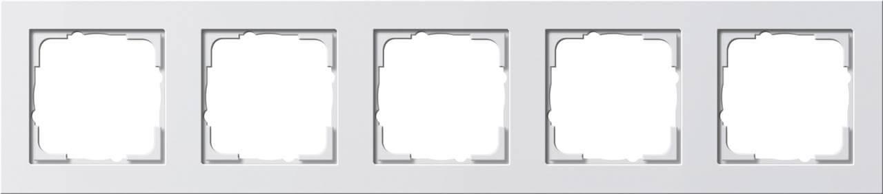 Рамка 5-постовая Gira E2 чисто-белый глянцевый 021529