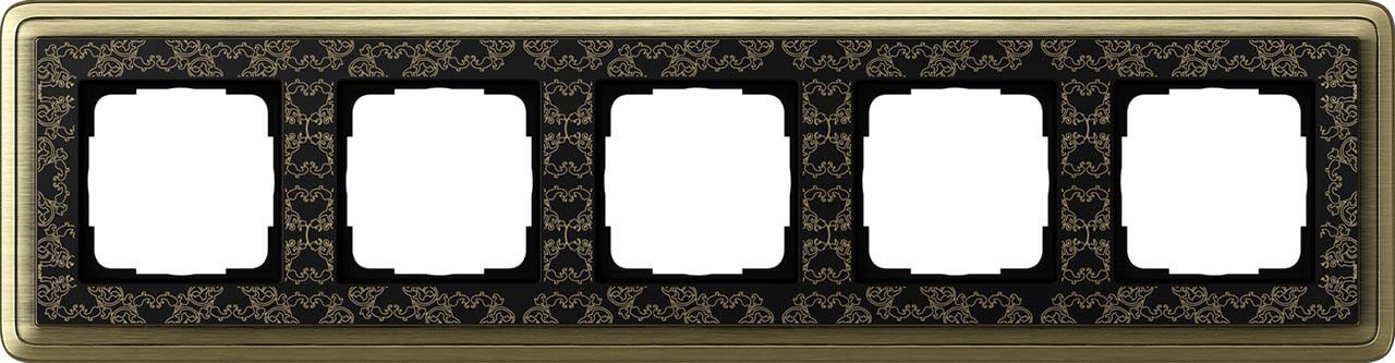 Рамка 5-постовая Gira ClassiX бронза/черный 0215662