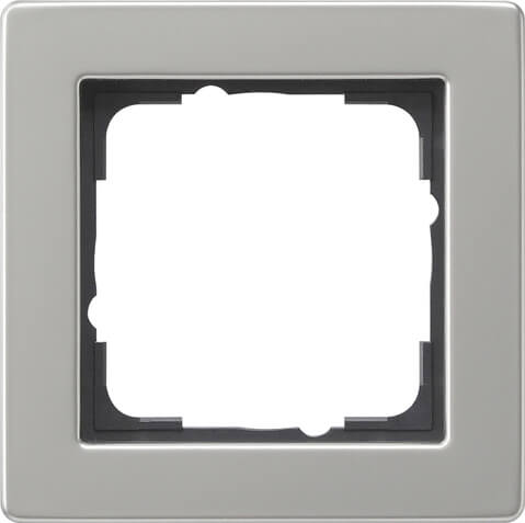 Рамка 1-постовая Gira E2 нержавеющая сталь 021133