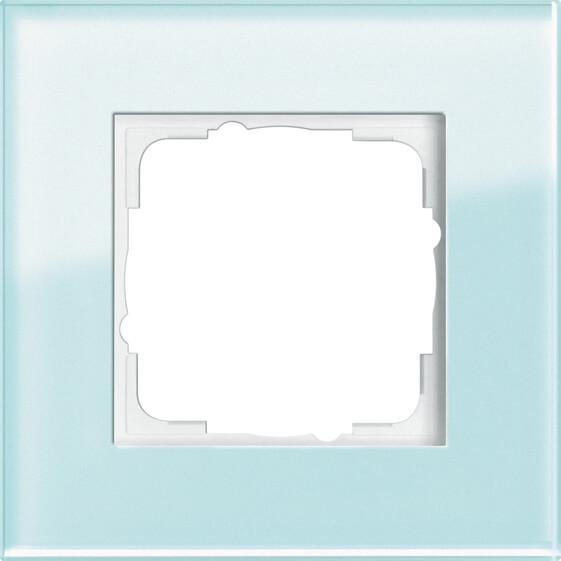 Рамка 1-постовая Gira Esprit салатовое стекло 021118 цена 2017