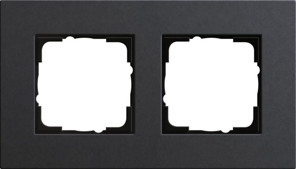 Рамка 2-постовая Gira Esprit Lenoleum-Multiplex антрацит 0212226 цена 2017