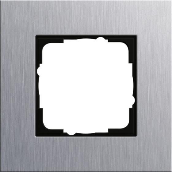 Рамка 1-постовая Gira Esprit алюминий 021117