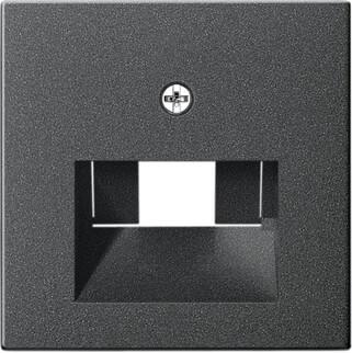 Лицевая панель Gira System 55 розетки компьютерной ISDN антрацит 027028