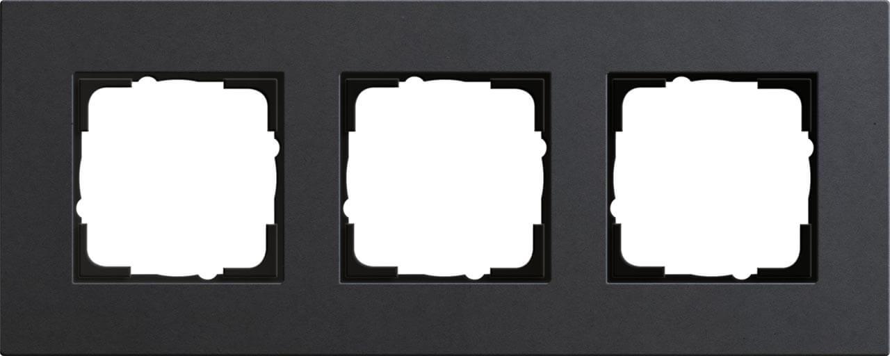 купить Рамка 3-постовая Gira Esprit Lenoleum-Multiplex антрацит 0213226 по цене 12541 рублей