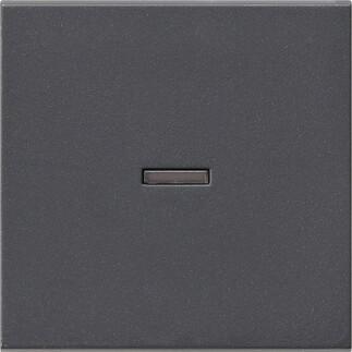 Лицевая панель Gira System 55 выключателя одноклавишного с подсветкой антрацит 029028