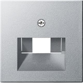 Лицевая панель Gira System 55 розетки компьютерной ISDN алюминий 027026