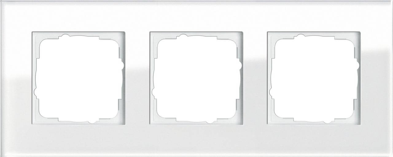 купить Рамка 3-постовая Gira Esprit белое стекло 021312 дешево