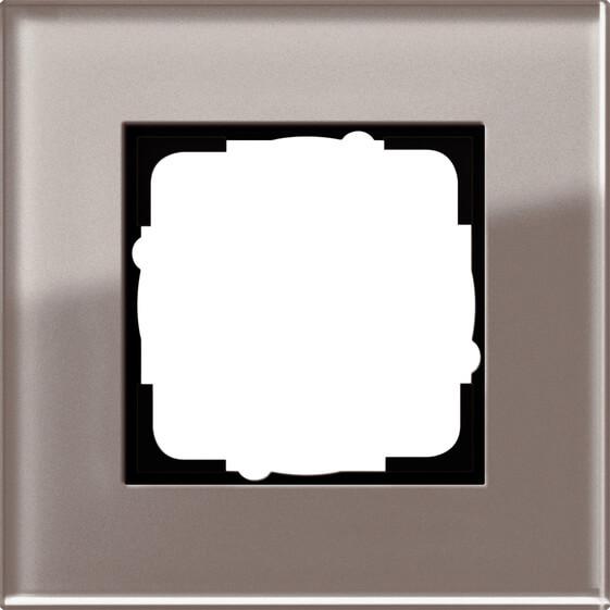 цены на Рамка 1-постовая Gira Esprit дымчатое стекло 0211122  в интернет-магазинах