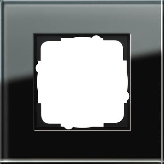 купить Рамка 1-постовая Gira Esprit черное стекло 021105 дешево