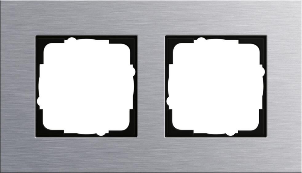 Рамка 2-постовая Gira Esprit алюминий 021217 все цены