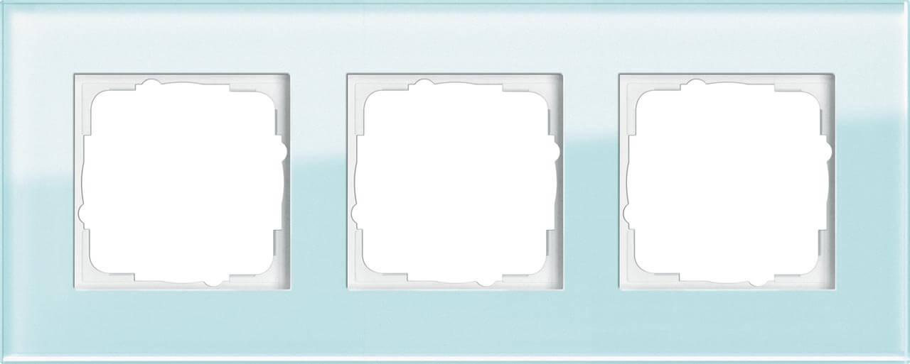 купить Рамка 3-постовая Gira Esprit салатовое стекло 021318 по цене 12541 рублей