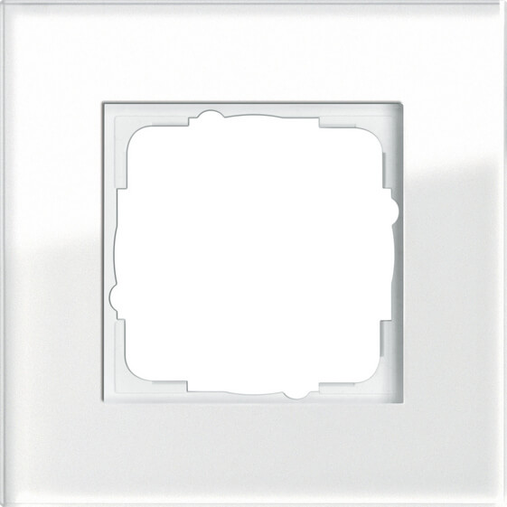 купить Рамка 1-постовая Gira Esprit белое стекло 021112 дешево