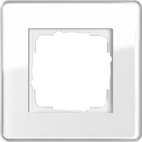 купить Рамка 1-постовая Gira Esprit C белое стекло 0211512 по цене 4431 рублей