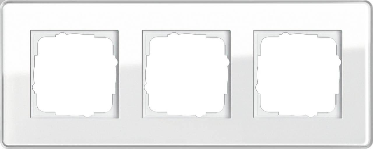 Рамка 3-постовая Gira Esprit C белое стекло 0213512 цены