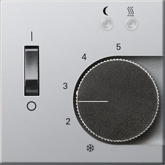 Лицевая панель Gira E22 термостата теплого пола алюминий 1494203