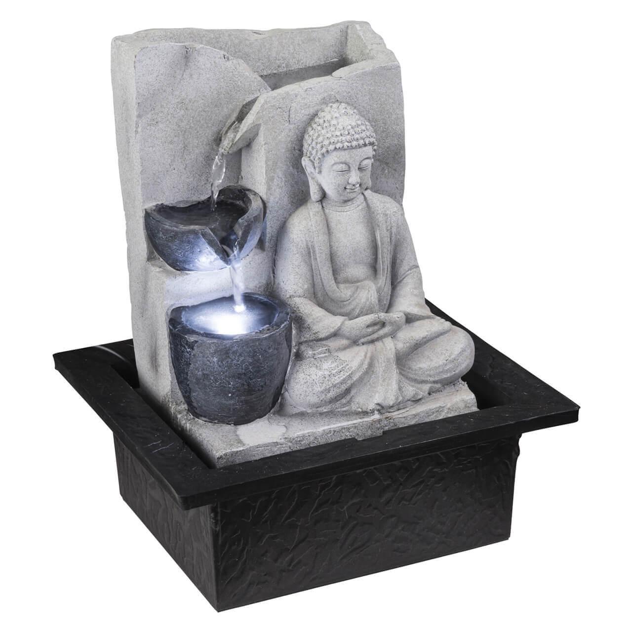Фонтан декоративный Globo Albert Светящийся Будда 93019 фонтан декоративный с подсветкой globo albert 93022