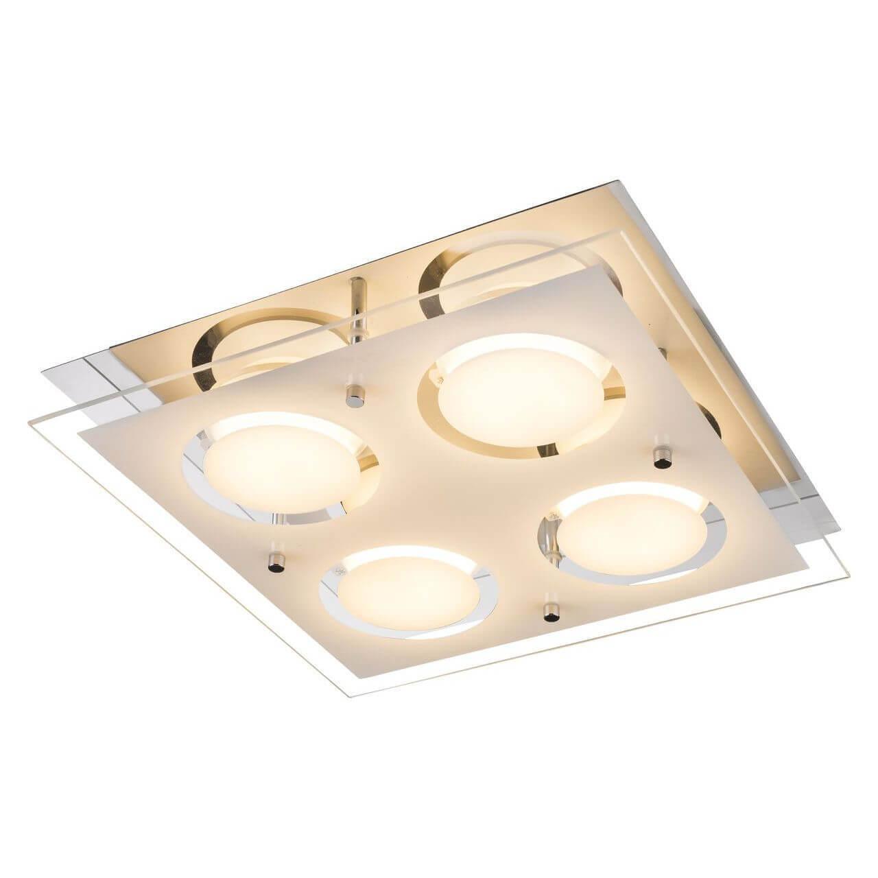 Потолочный светодиодный светильник Globo Ricky 49236-4 потолочный светильник globo new 49236 2 серый металлик