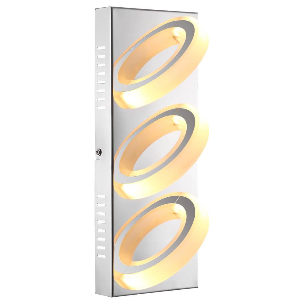 Настенный светодиодный светильник Globo Mangue 67062-3 настенный светильник бра коллекция amoena 56444 3 хром globo глобо