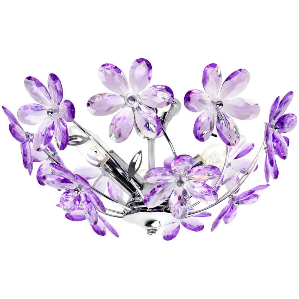 лучшая цена Потолочная люстра Globo Purple 5142