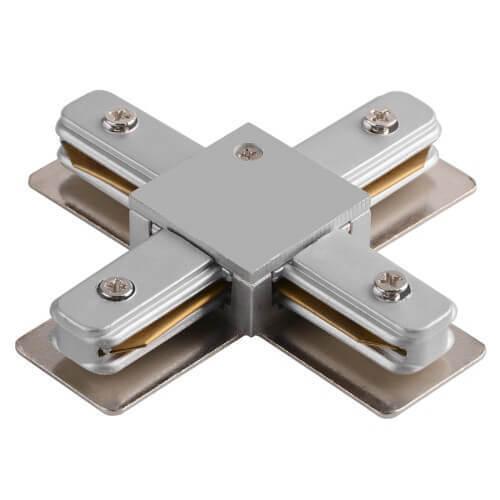 Соединитель для шинопроводов Х-образный Horoz серебро 096-001-0003