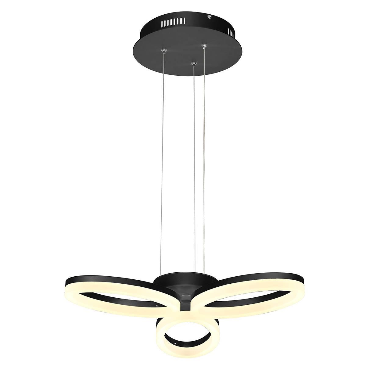 Подвесная светодиодная люстра Horoz черная 019-006-0024 подвесная светодиодная люстра horoz белая 019 006 0040