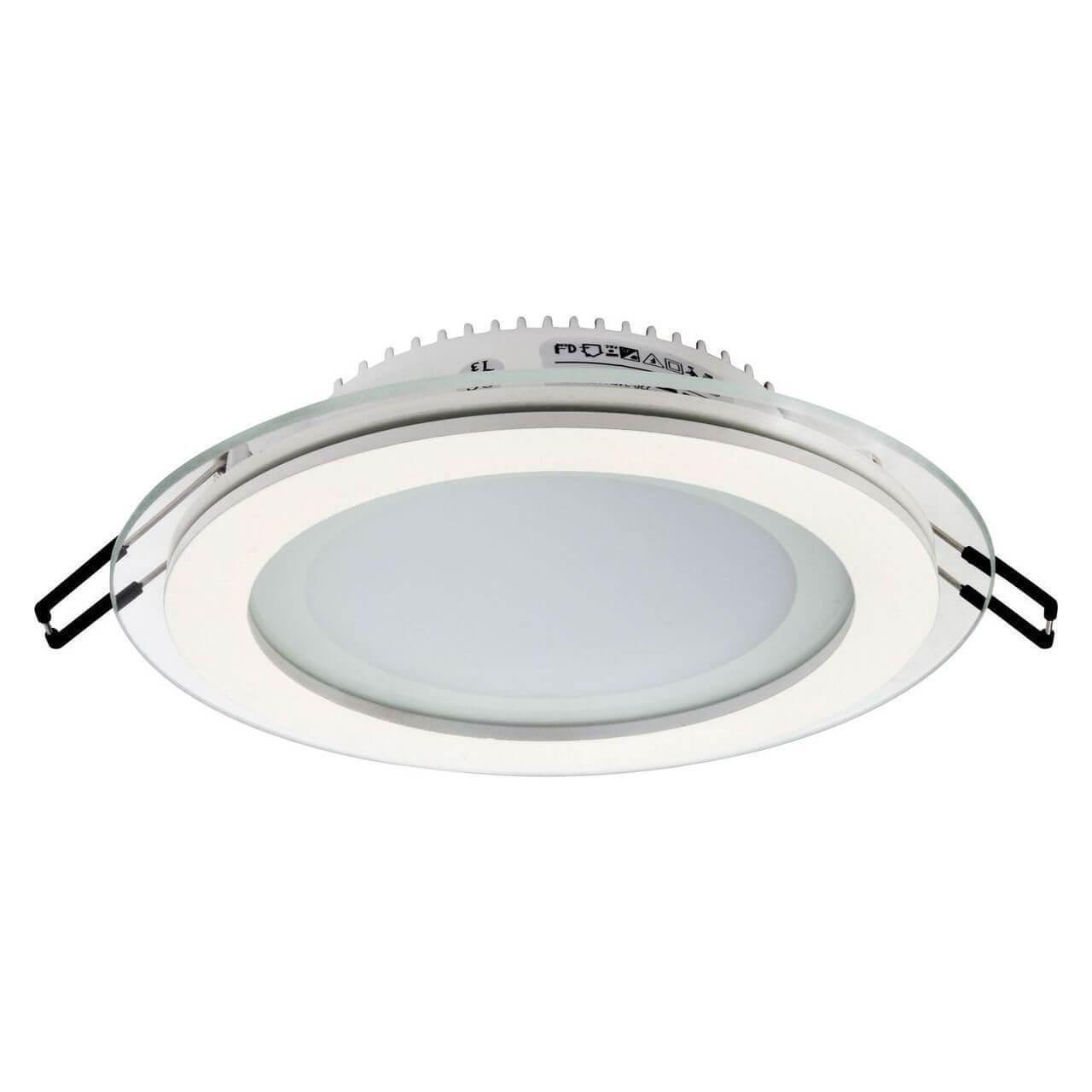 Встраиваемый светодиодный светильник Horoz Clara-12 12W 4200К белый 016-016-0012 (HL688LG) подвесной светодиодный светильник horoz sembol голубой 020 006 0012