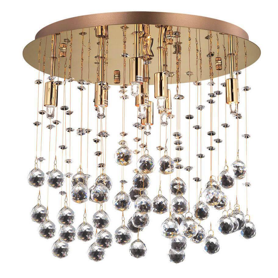 лучшая цена Потолочный светильник Ideal Lux Moonlight PL8 Oro
