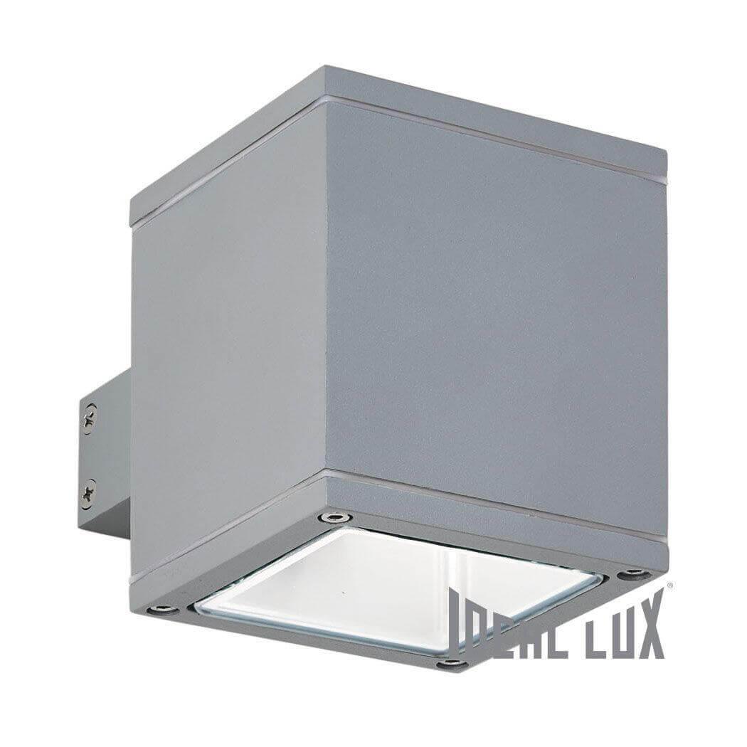 лучшая цена Уличный настенный светильник Ideal Lux Snif Square AP1 Grigio
