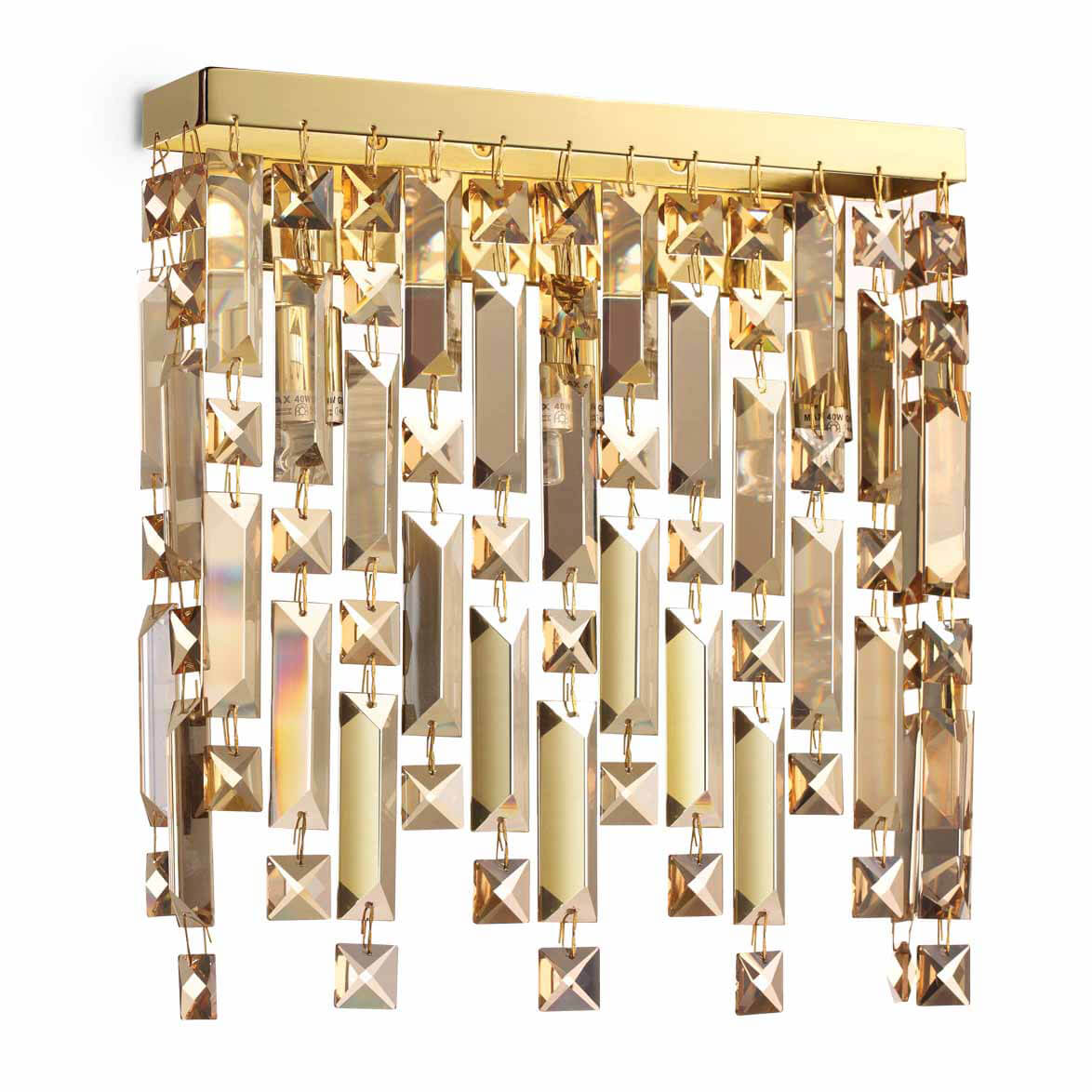 Настенный светильник Ideal Lux Elisir AP3 Ottone