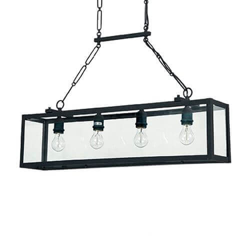 Подвесной светильник Ideal Lux Igor SP4 Nero цена в Москве и Питере