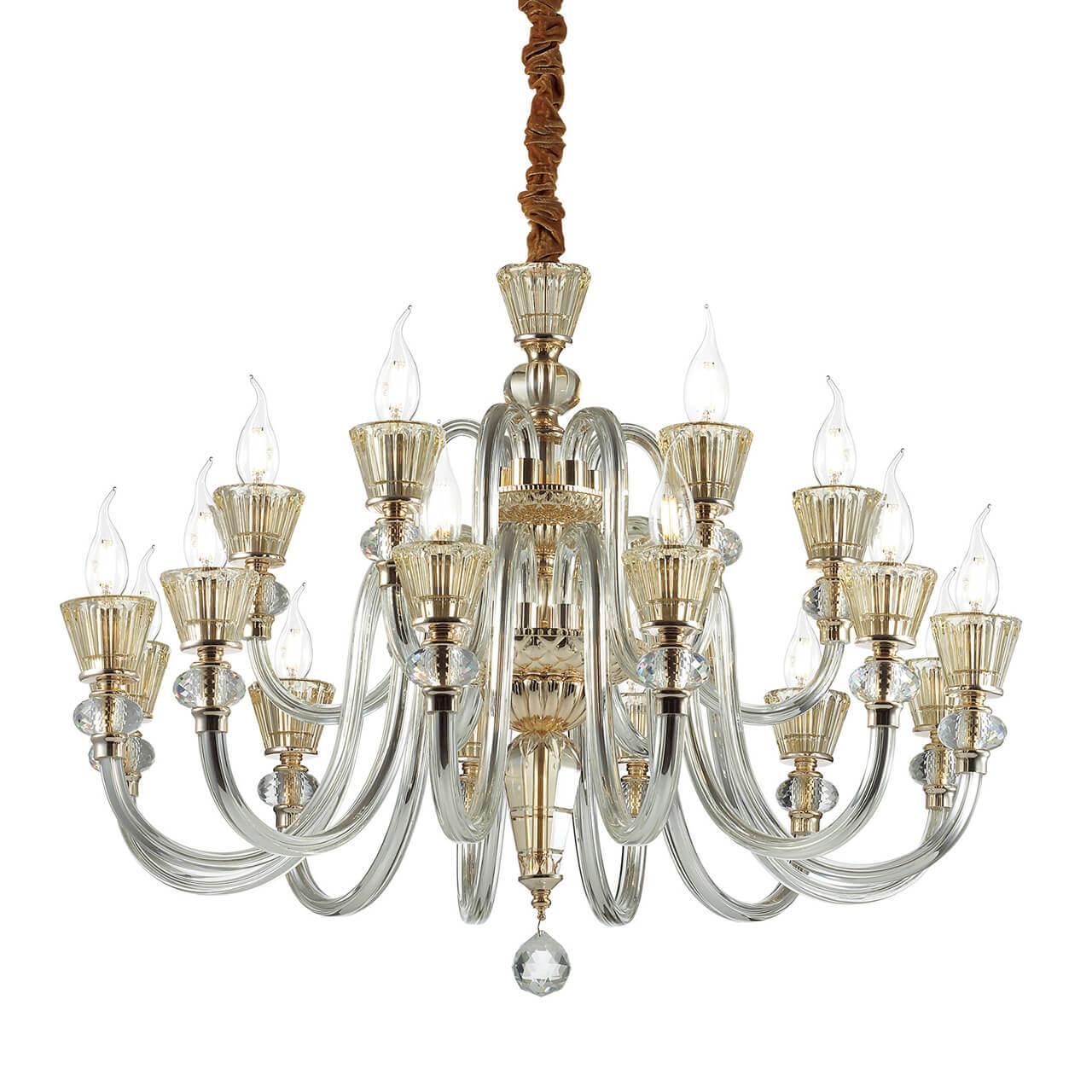 Подвесная люстра Ideal Lux Strauss SP18 ideal lux подвесная люстра ideal lux florian sp18 cromo