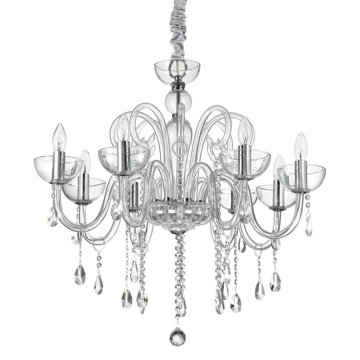 Подвесная люстра Ideal Lux Canaletto SP8 Trasparente ideal lux подвесная люстра colossal sp15 trasparente
