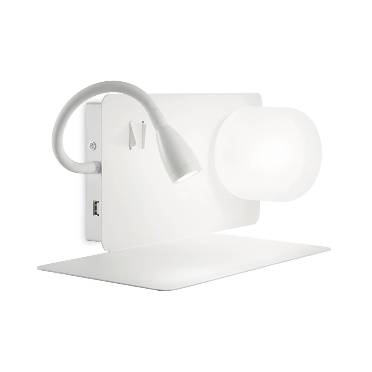 Бра Ideal Lux Book-1 Ap Bianco Book (USB зарядное устройство) спот ideal lux page ap square bianco page bianco