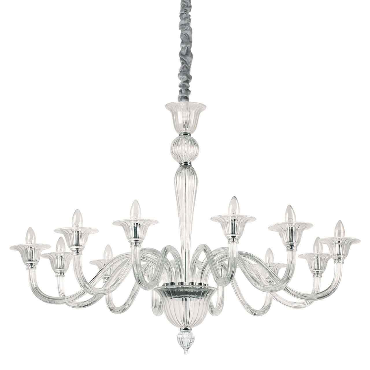Подвесная люстра Ideal Lux Brigitta SP12 Trasparente ideal lux подвесная люстра colossal sp15 trasparente