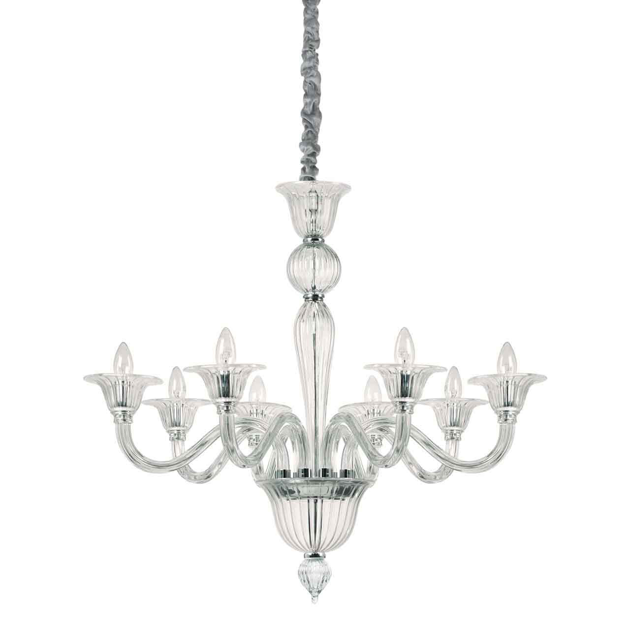Подвесная люстра Ideal Lux Brigitta SP8 Trasparente ideal lux подвесная люстра colossal sp15 trasparente
