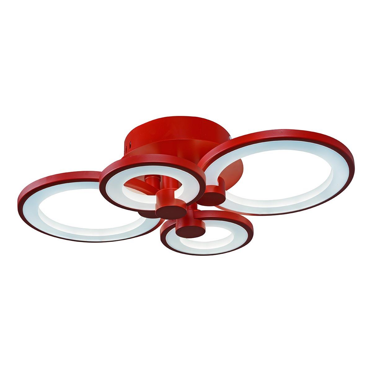 Люстра iLedex A001/4 Red Ring