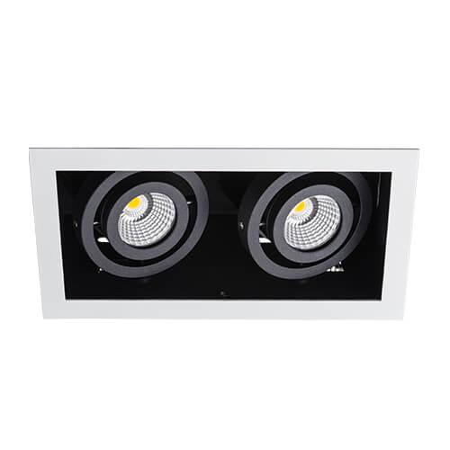 цена на Встраиваемый светодиодный светильник Italline DL 3015 white/black