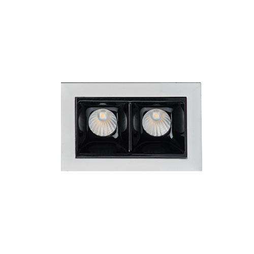 цена на Встраиваемый светодиодный светильник Italline DL 3072 white/black