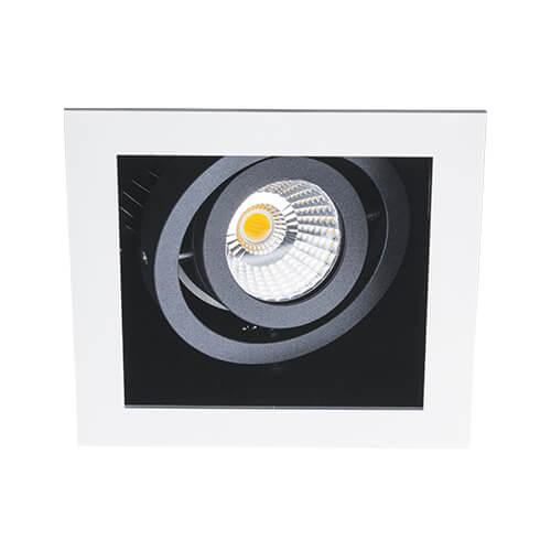 цена на Встраиваемый светодиодный светильник Italline DL 3014 white/black
