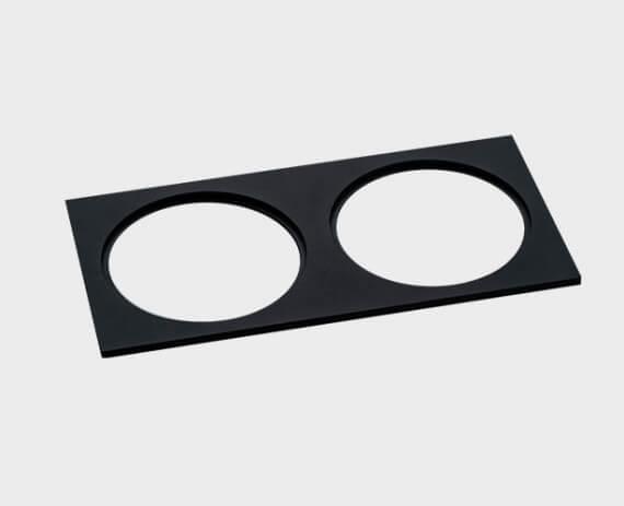Рамка декоративная Italline IT02-QRS2 black italline fashion 2 black