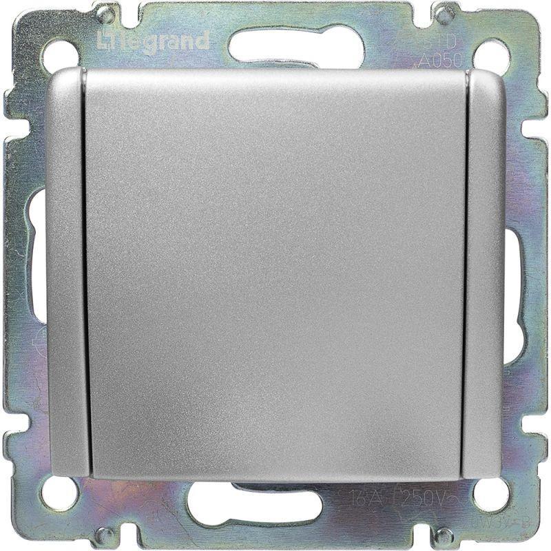 Розетка 2К+3 Legrand Valena 16A 250V с/з с крышкой винтовой зажим алюминий 770122 цена и фото