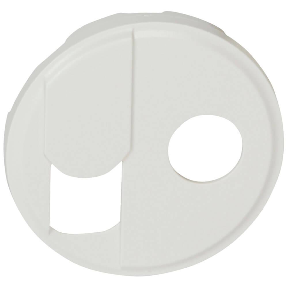 Лицевая панель Legrand Celiane розетки RJ45+ТV тип F белая 068239 цена