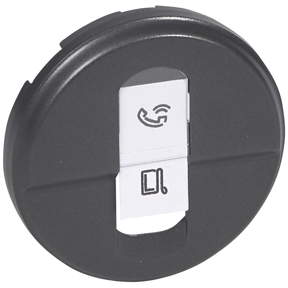 Лицевая панель Legrand Celiane розетки компьютерной RJ45 графит 067951 цена