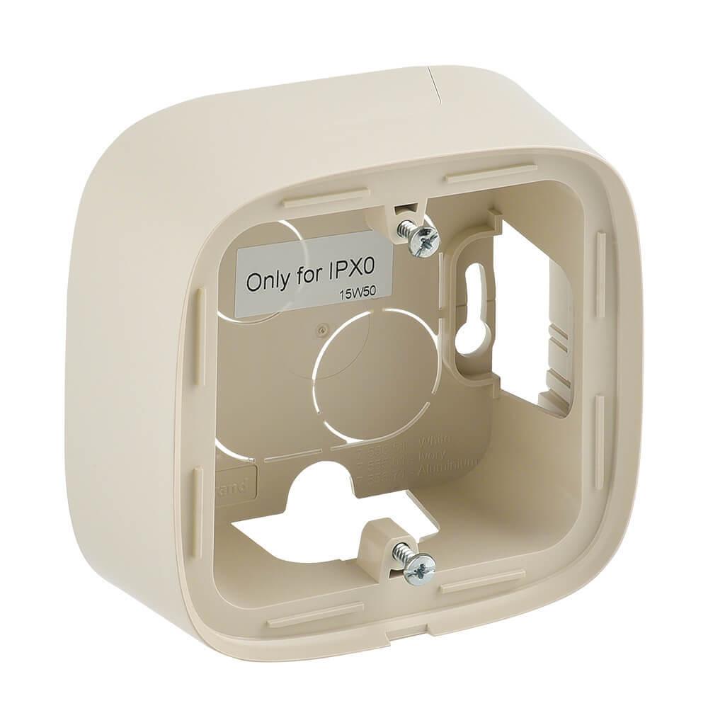 Коробка 1-постовая Legrand Valena Allure для накладного монтажа слоновая кость 755561 бокс для накладного монтажа rexant bn 01 бежевый