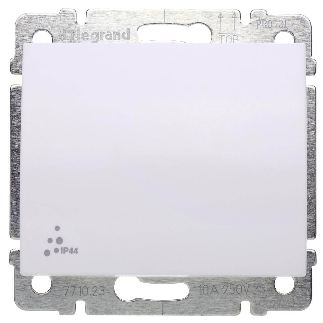 Выключатель кнопочный одноклавишный Legrand Galea Life 10A 250V IP44 белый 771023 выключатель одноклавишный кнопочный legrand quteo 6a 250v белый 782205