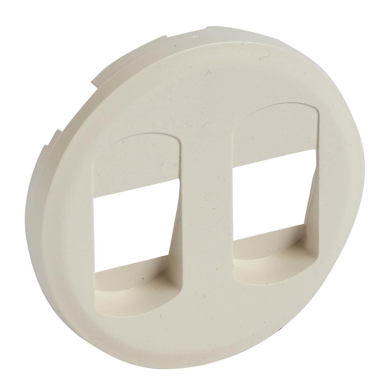 цена на Лицевая панель Legrand Celiane розетки акустической двойной слоновая кость 066241